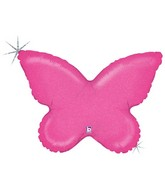 "30"" Holographic Solid Color Butterfly Pink"