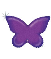 "30"" Holographic Solid Color Butterfly Purple"