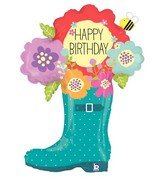 "37"" Foil Shape Balloon Birthday Rain Boot"