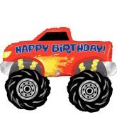 """40"""" Foil Shape Balloon Monster Truck Birthday"""