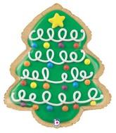 "25"" Foil Shape Balloon Christmas Tree Cookie"