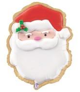 "24"" Foil Shape Balloon Santa Cookie"