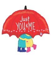 "33"" Foil Shape Balloon Packaged Just You & Me"