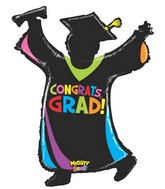 """46"""" Mighty Bright Shape Balloon Mighty Grad Silhouette"""