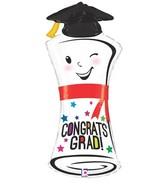 """34"""" Foil Shape Balloon Congrats Grad Diploma"""