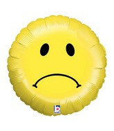 "18"" Balloon Sad Smiley"
