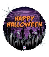"18"" Holographic Balloon Zombie Halloween"