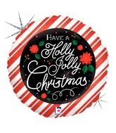 """18"""" Holographic Balloon Chalkboard Christmas"""