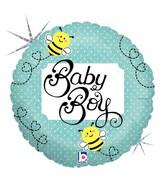 "18"" Holographic Balloon Baby Boy Bee"