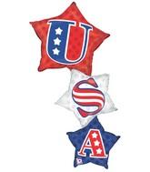 """50"""" U.S.A. Star Stacker Balloon"""