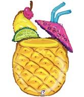 """37"""" Mylar Pineapple Drink Balloon"""