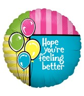 "18"" Balloon Feel Better Balloons"