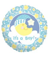 "18"" Balloon Slumber Moon Boy"
