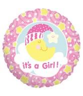 "18"" Balloon Slumber Moon Girl"