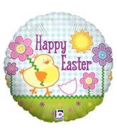 """18"""" Balloon Button Easter"""