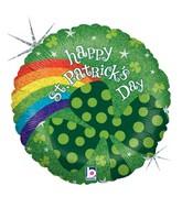"18"" Holographic Balloon St. Pat's Rainbow"