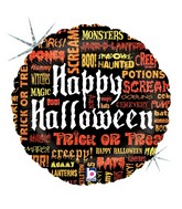 """18"""" Scary Words Halloween Balloon"""
