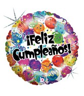 "18"" Holographic Balloon Feliz Cumpleaños Globos"