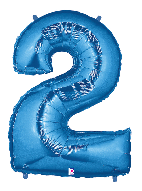 """40"""" Large Number Balloon 2 Blue"""