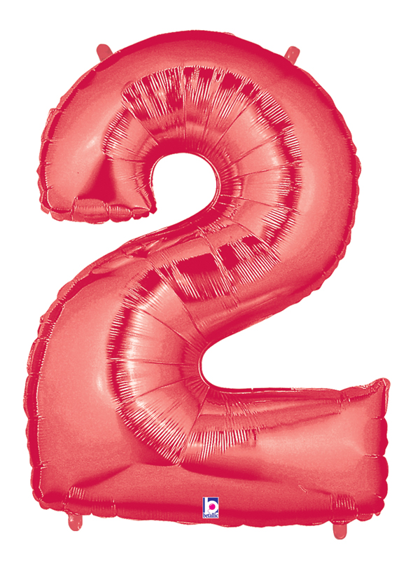 "40"" Large Number Balloon 2 Red"