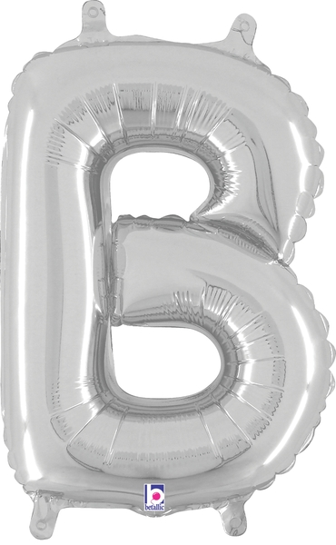 "14"" Valved Air-Filled Shape B Silver Balloon"