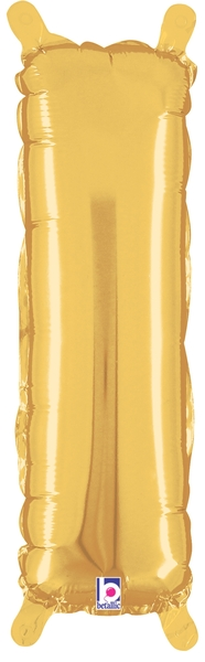 "14"" Valved Air-Filled Shape I Gold Balloon"