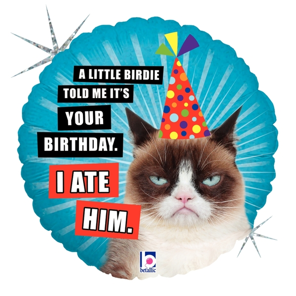 "18"" Balloon Grumpy Cat Birthday (I Ate Him) Balloon"