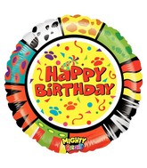 "21"" Mighty Bright Balloon Mighty Zooloons Birthday"