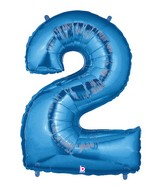 "40"" Large Number Balloon 2 Blue"