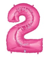 "40"" Large Number Balloon 2 Pink"