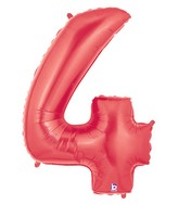 "40"" Large Number Balloon 4 Red"