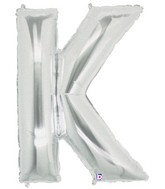 "40"" Large Letter Balloon K Silver"