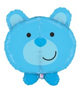 "27"" Multi-Sided Dimensionals Baby Boy Bear Balloon"
