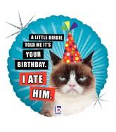"""18"""" Balloon Grumpy Cat Birthday (I Ate Him) Balloon"""