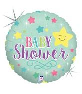 "18"" Holographic Balloon Baby Star Shower Balloon"
