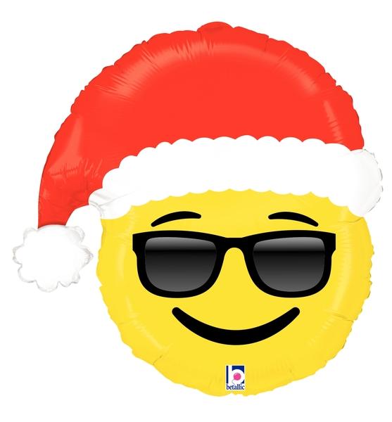 "25"" Foil Shape Balloon Emoji Santa"