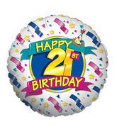 """18"""" 21st Birthday Balloon"""
