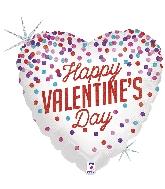 """18"""" Holographic Balloon Glittering Valentine Confetti"""
