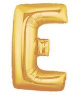 "7"" Airfill (requires heat sealing) Letter Balloons E Gold"