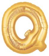"7"" Airfill (requires heat sealing) Letter Balloons Q Gold"