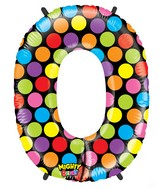 """40"""" Mighty Bright Shape Polybagged Number 0 Balloon"""