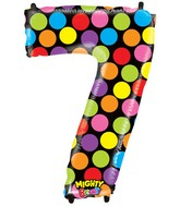 """40"""" Mighty Bright Shape Polybagged Number 7 Balloon"""