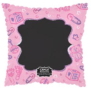 """18"""" Baby Pink Chalkboard Foil Balloon"""