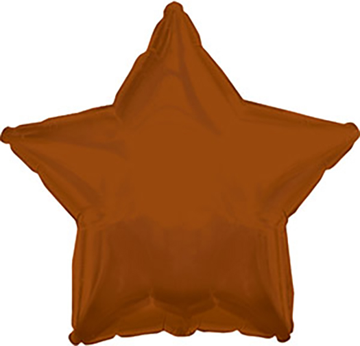 """9"""" Airfill Only Brown Star Foil Balloon"""