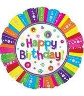 "24"" Happy B-Day Bubbles Foil Balloon"