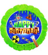 "18"" Mad Scientist Happy Birthday Foil Balloon"