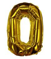"8"" Gold #0 Shape Self Sealing Valve Foil Balloon"