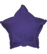 """7"""" Purple Star Self Sealing Valve Foil Balloon"""