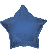 "7"" True Blue Star Self Sealing Valve Foil Balloon"