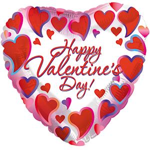 "18"" Happy Valentine's Day Framed Hearts"